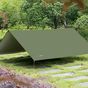 10 x 10 FT Lightweight Waterproof RipStop Rain Fly Hammock Tarp Cover Tent Shelt...