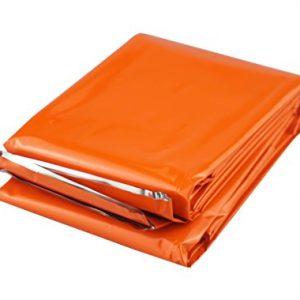 "SE EB121OR 83"" x 51"" Emergency Blanket, Orange"