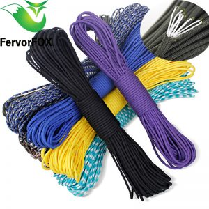 50 colors Paracord 550 Parachute Cord Lanyard Rope Mil Spec Type III 7 Strand 100FT Climbing Camping survival equipment