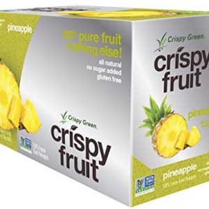 Crispy Green 100% All Natural Freeze-Dried Fruits, Pineapple, 0.36 Ounce (12 Count)