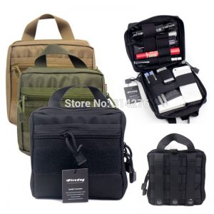 Outdoor Survival Emergency EDC Tools Molle First Aid Medical Kit Pouch Organizer Utility Gear Bag Pouch For Backpack Waist Packs