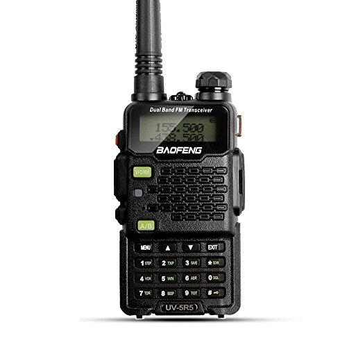 BaoFeng UV-5R5 5W Dual-Band Two-Way Ham Radio Transceiver UHF/VHF 136-174/400-520MHz