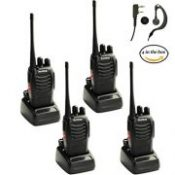 Nestling 4pcs Baofeng 888s Walkie Talkie with Built in LED Torch (Pack of 4)