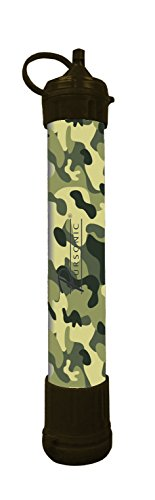 Pursonic SS1-CF Water Filtration Straw Survivor Straw Personal Water Filter, Camouflage