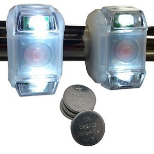 Bright Eyes 2-PACK White Portable Marine LED Emergency Waterproof Boating Lights – Boat Bow or Stern Safety Light