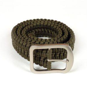 Stone River Gear Paracord Survival Belt, Green, Medium
