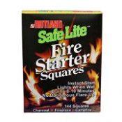 Rutland 50B Safe Lite Fire Starter Squares, 144 Squares