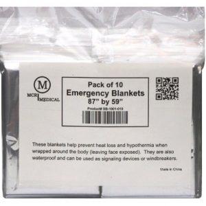 MCR Medical Supply SB-1001-010 Silver Mylar Emergency Blanket, 59″ x 87&#8...