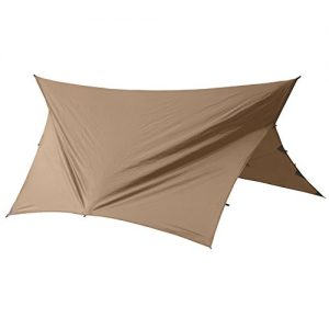 Go Outfitters Apex Camping Shelter/Hammock Tarp, Coyote Brown