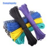 CAMPINGSKY 108colors Paracord 550 Parachute Cord Lanyard Rope Mil Spec Type III 7Strand 100FT ClimbingCamping survival equipment