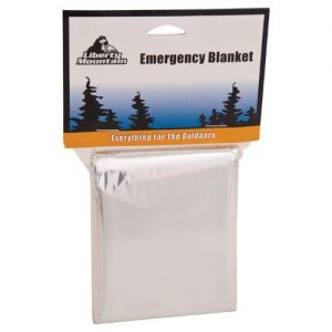 Liberty Mountain Emergency Blanket, Silver