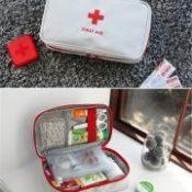 1pcs Multicfuntion First Aid Storage Bag Emergency Survival Bag Medicine Bandage Drug Bag Travel Outdoor Sports Home Organizer