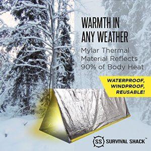 Survival Shack Emergency Survival Shelter Tent   2 Person Mylar Thermal Shelter ...