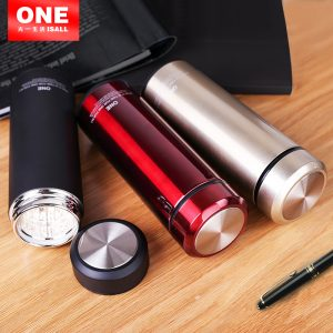 Keep Heat 12H Water Cup Bottle Thermos Coffee Mug Black Glass Liner Thermo Mug Termica water Cups Vacuum Flask Mug Thermo Cups