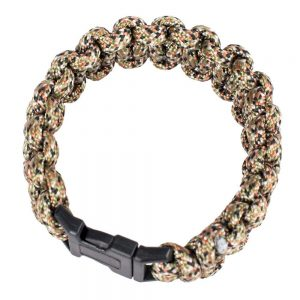 9 in. Polyester Survival Paracord Bracelet – Camo