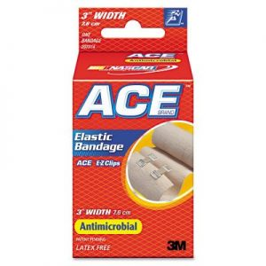 """ACE Elastic Bandage With E-Z Clips, 3″"" x 1.8 yds."""