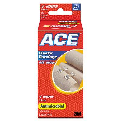 """ACE Elastic Bandage With E-Z Clips, 4"""" x 1.8 yds."""