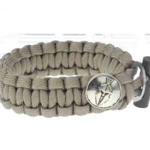 Outdoor Survival Emergency Paracord Bracelet w/ Flintstone